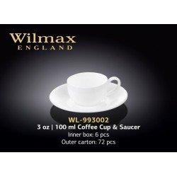 Wilmax Чашка кавова&блюдце 100мл WL-993002