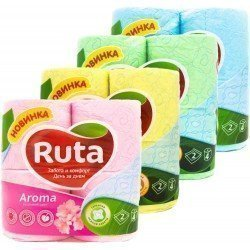 RUTA Туалетная бумага упаковка 4 рулона  Ruta4
