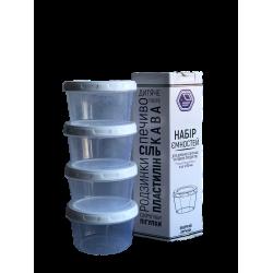 Narodnyiproduct Набор емкостей для жидких продуктов 4х150 мл. - 87б