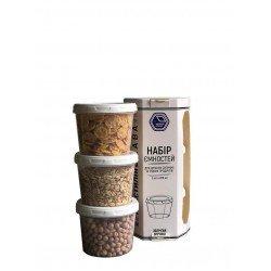 Narodnyiproduct Набор емкостей для жидких продуктов 3х200мл, - 88б