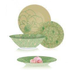 Luminarc Big Flower Green  Столовый сервиз 19 пр. * Q4859