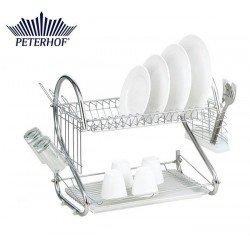 PETERHOF Сушка для посуды 2х ярусная PH12886
