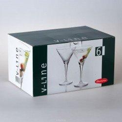 Paşabahçe V-Line Бокал д/мартини, набор 6х255 мл 44335