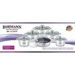 BOHMANN Набор посуды 12pcs.cookware+TEFLON BH1275 NTF