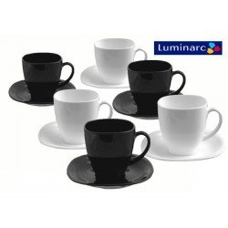 Luminarc Carine Black&White Набор чайный 220мл-12пр D2371