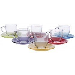 LUMINARC Carina Rainbow Сервиз чайный 220мл-12пр. J5978