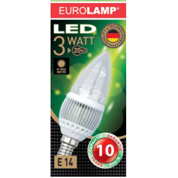 EUROLAMP Лампа  LED Candle 3w e14 2700k / LED-CL-E14/27 -31213