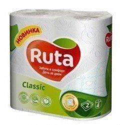 RUTA5 Туалетная бумага 2х слойная 4 рулона упаковка - R74004