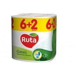 Ruta8 ClassicТуалетная бумага 2х слойная упаковка 8 рулонов  - R74048