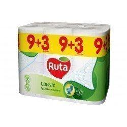 Ruta Classic Туалетная бумага 9+3 рул Ruta7