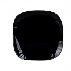 LUMINARC Lotusia Black Тарелка обеденная черная 25,5см - P7063