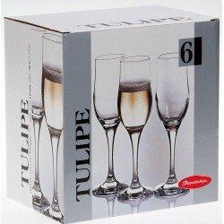 Pasabahce TULIPE  Бокал шампанское набор 6Х200мл  - 44160