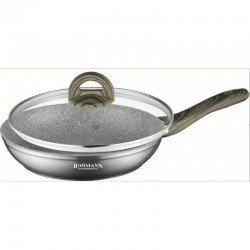 BOHMANN Сковородка с крышкой 20cm. -  BH 1006-20 MRB