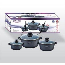 BOHMANN Набор посуды 6 предметов - BH 6006 MRB