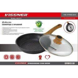 VISSNER Сковородка с крышкой 24 см. VS 7700-24