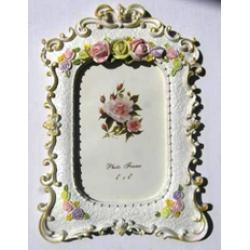 Рамка  керамик Роза 10х15см. 3539