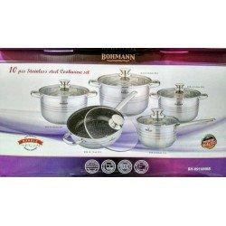 BOHMANN Набор посуды 10 предметов - BH 0910 MRB