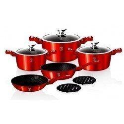 BERLINGERHAUS Metallic burgundy Набор посуды 10 пр. BH-1222 N