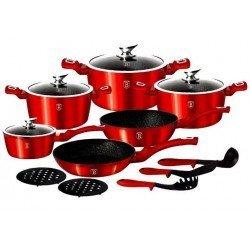 BerlingerHaus Metallic burgundy Набор посуды 15 предметов BH-1226 N