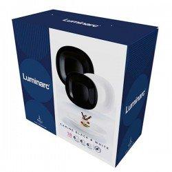 Luminarc Carine Black&White.Сервиз столовый-18пр N1479