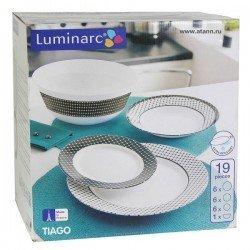 LUMINARC TIAGO Сервиз стол. 19 пр. J7857