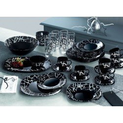 Luminarc Dripping Black Сервиз столовый-19пр G9673