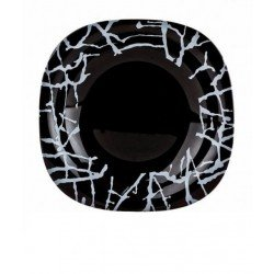 Luminarc Carine Dripping Black Тарелка обеденная  G9659