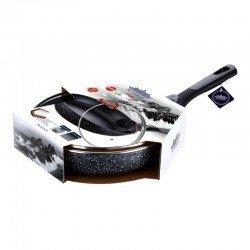 PETERHOF GRANITE Сковородка съёмная ручка с крыш. 24 см. - PH25376-24