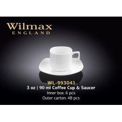 Wilmax Чашка кавова&блюдце 90мл WL-993041