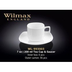 Wilmax Чашка чайна&блюдце 200мл Color WL-993003/1C