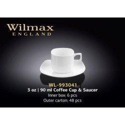 Wilmax Набір кавовий (чашка 90мл-2шт.блюдце-2шт)- WL-993041/2C