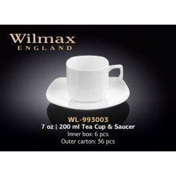 Wilmax Набір чайний(чашка 200мл-6шт,блюдце-6шт)-12пр Color WL-993003/6C