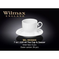 Wilmax Набір чайний(чашка 220мл-2шт,блюдце-2шт)-4пр Color WL-993009R/2С