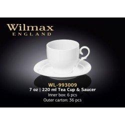 Wilmax Набір чайний(чашка 220мл-4шт,блюдце-4шт)-8пр Color WL-993009R/4С