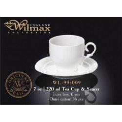 Wilmax Набір чайний(чашка 220мл-6шт,блюдце-6шт)-12пр Color WL-993009R/6С