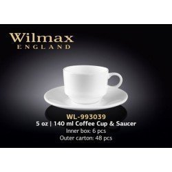 Wilmax Чашка кавова&блюдце 140мл WL-993039
