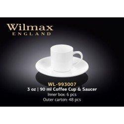 Wilmax Чашка кавова&блюдце 90мл WL-993007