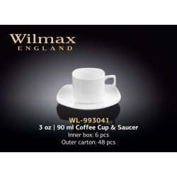 Wilmax Чашка кавова блюдце 90мл Color WL-993041/1
