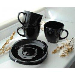 LUMINARC CARINE BLACK Набор чайный 6х220 мл. 12 пред. - P4672