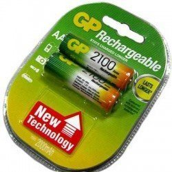 GP Аккумулятор батарейка зарядная 2100 mAh - R6-2100