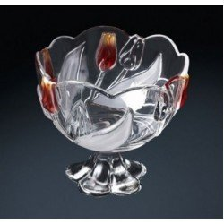 Walther-Glas Nadinе Satin-Red-Gold Салатник н-н 210мм w6135