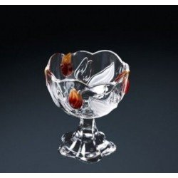 Walther-Glas Nadinе Satin-Red-Gold Салатник н-н 140мм w6138