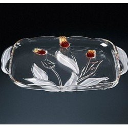 Walther-Glas Nadinе Satin-Red-Gold Блюдо 405мм w6146