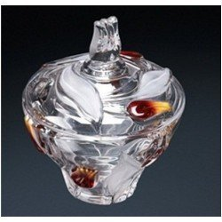 Walther-Glas Nadinе Satin-Red-Gold Цукорниця 160мм w6153