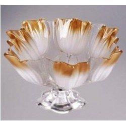 Walther-Glas Sylvia White-Gold Блюдо на ножке 300мм w2062