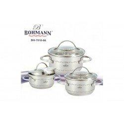 BOHMANN Набор посуды 6 предметов 1.8-3.4-4.5л. -  BH 7010-06