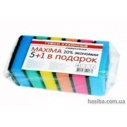 Hasiba Group MАКСИМА Губка 5+1 для мытья набор 6 шт.100281