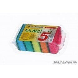 Hasiba Group МАКСИ Губка кухонная  набор 5 шт. 100014