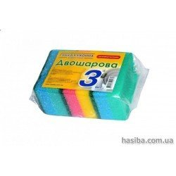 Hasiba Group Тройка Губка двухслойна набор 3 шт. 100175