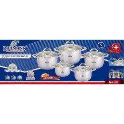 BOHMANN Набор посуды 10 предметов BH 1012